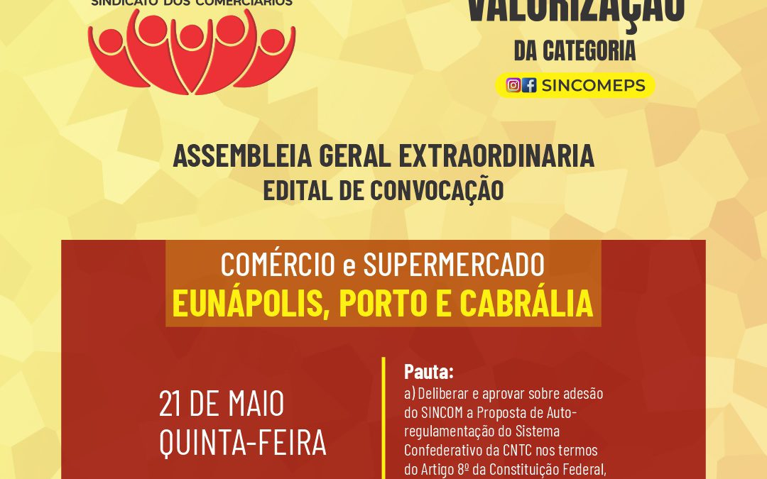 Assembleia Geral Extraordinária Itinerante